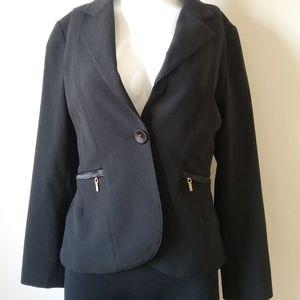 Long Sleeves Black Jacket  For Women